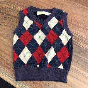 Other - Argyle sweater vest.  Wool 70%